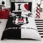 Besiktas Eagle Logo Single Duvet Cover from  at Besiktas Shop #